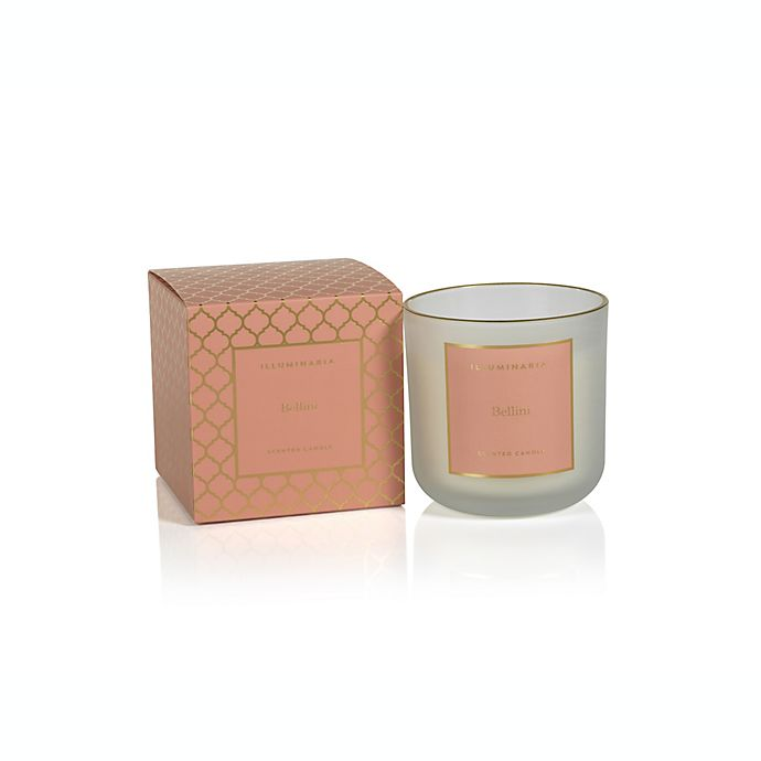 Alternate image 1 for Zodax Bellini Medium Frosted Boxed Jar Candle with Gold Rim in Clay