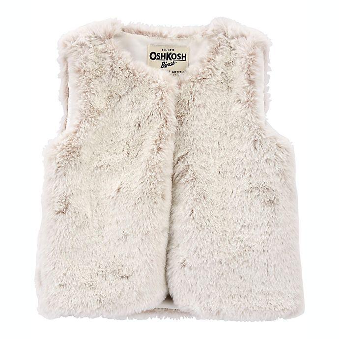 Alternate image 1 for carter's® Faux Fur Vest in Cream