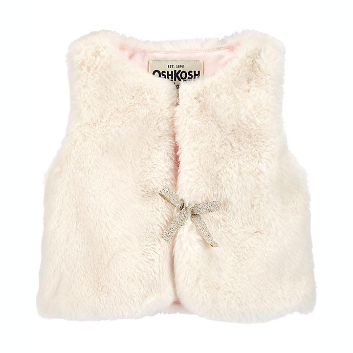 Alternate image 1 for carter's® Size 3M Faux Fur Vest in White