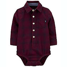 carter's® Plaid Button-Front Bodysuit