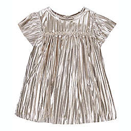 carter's® Size 3M 2-Piece Metallic Pleated Sparkle Dress and Diaper Cover Set