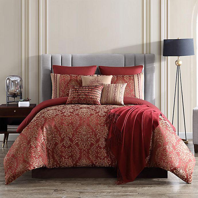 Alternate image 1 for Verlaine 10-Piece Comforter Set in Red/Gold