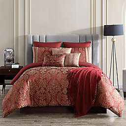 Verlaine 10-Piece Comforter Set in Red/Gold