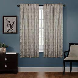 Zenna Home Damask 63-Inch Rod Pocket 100% Blackout Window Curtain Panel in Tan