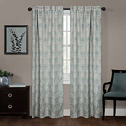 Zenna Home Damask Rod Pocket 100% Blackout Window Curtain Panel (Single)