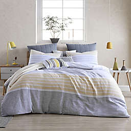 Cordelia Stripe 3-Piece King/California King Duvet Cover Set in Yellow