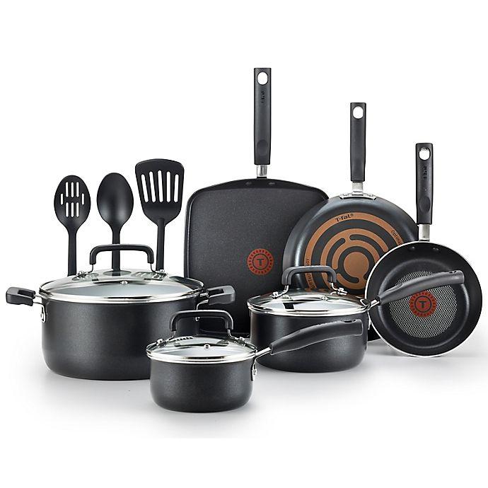 Alternate image 1 for T-fal® Signature Nonstick Aluminum 12-Piece Cookware Set