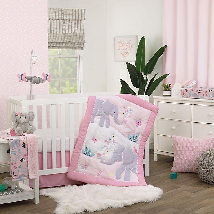 Alternate image 1 for carter's® Floral Elephant Nursery Bedding Collection