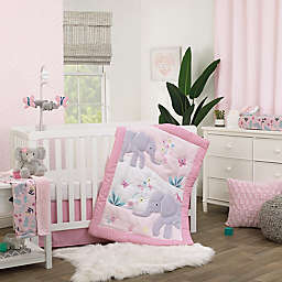 carter's® Floral Elephant 3-Piece Crib Bedding Set in Pink