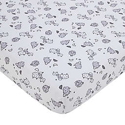 carter's® Sleepy Sheep Fitted Crib Sheet in White
