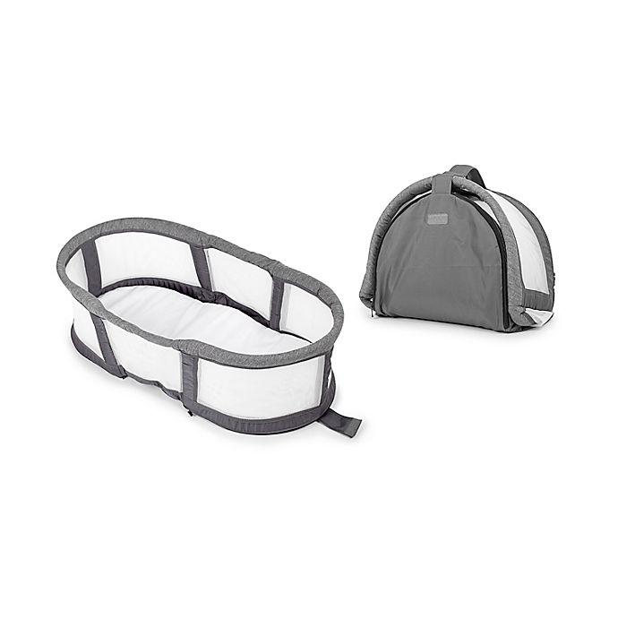 Alternate image 1 for Baby Delight® Snuggle Nest™  Peak Portable Bassinet in Grey/White