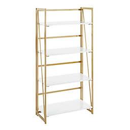 LumiSource® Folia Bookcase in White/Gold