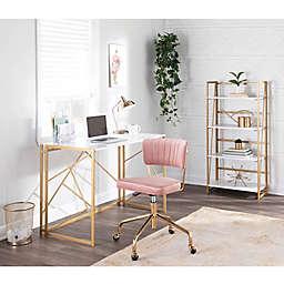 LumiSource® Folia Furniture Collection in White/Gold