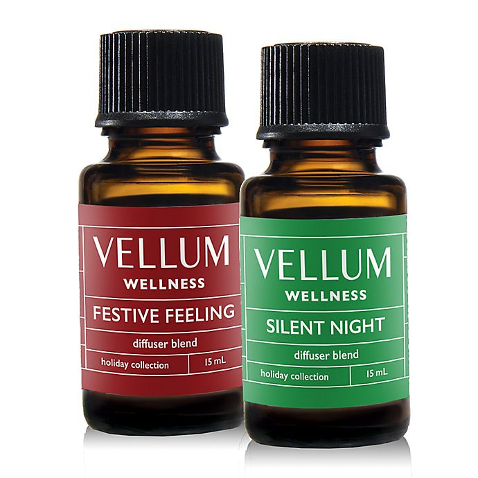 Alternate image 1 for Vellum Wellness 2-Piece Holiday Diffuser Blend Duo