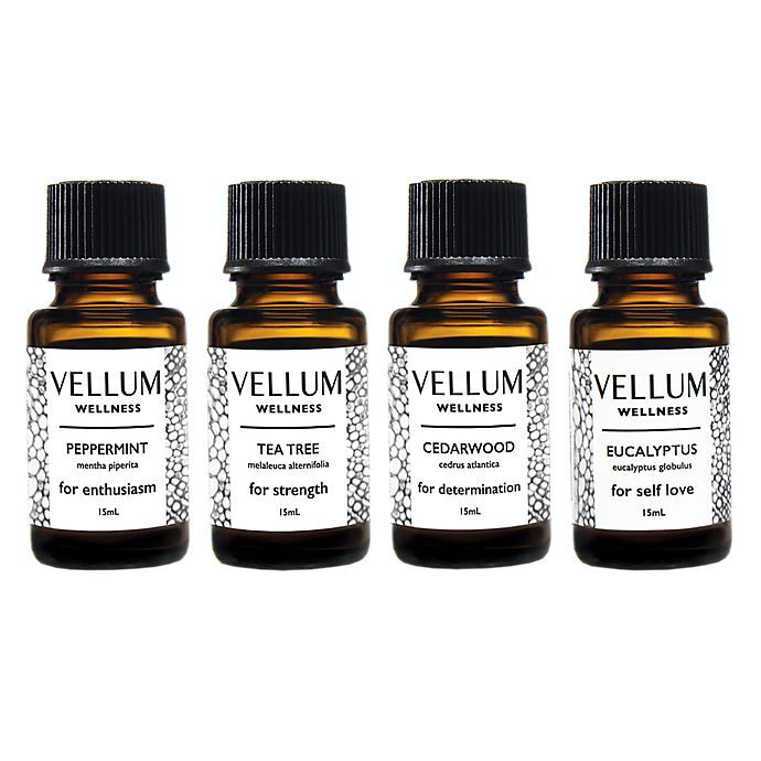 Alternate image 1 for Vellum Wellness Immune Cold+Flu 4-Piece Essential Oil Bundle