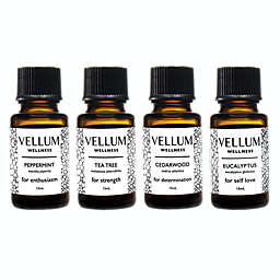 Vellum Wellness Immune Cold+Flu 4-Piece Essential Oil Bundle