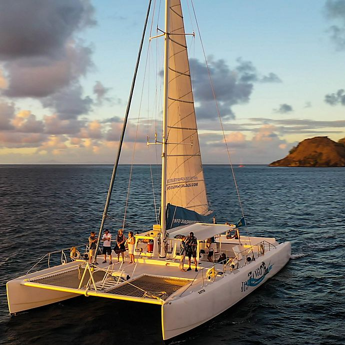 Alternate image 1 for Romantic St. Lucia Champagne Sunset Cruise by Spur Experiences®