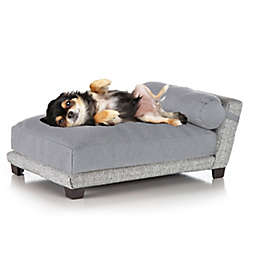 Club Nine Bada Large Orthopedic Dog Bed in Silver