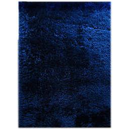 Omedy Ahna 8' x 11' Shag Area Rug in Dark Blue