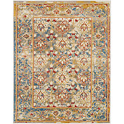 Sheryna Koti Floral 8'9 x 11'9 Area Rug in Yellow/Blue