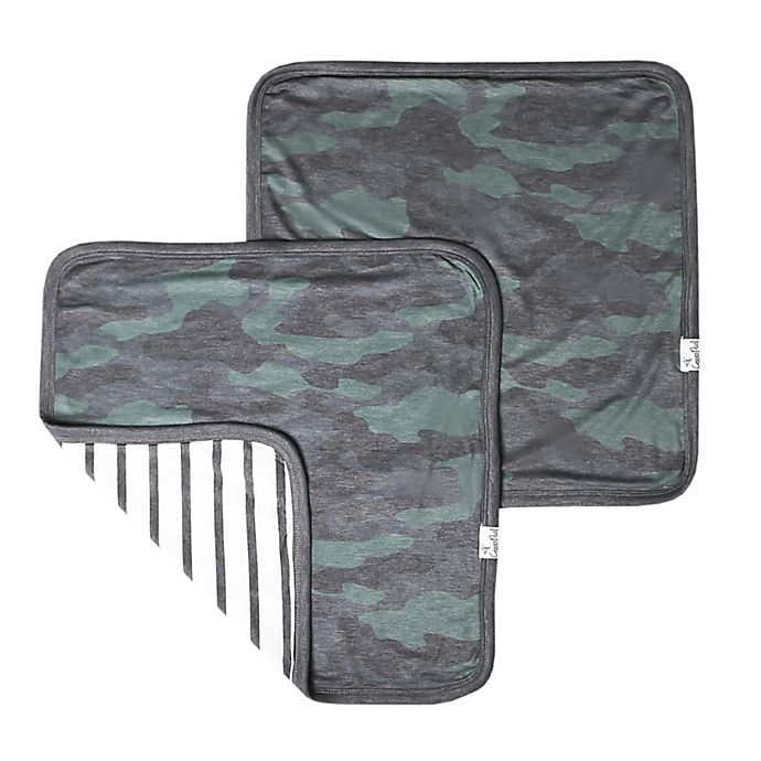 Alternate image 1 for Copper Pearl Hunter 2-Pack 3-Layer Security Blanket in Green