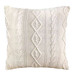 Bee & Willow™ Home Cable Knit European Pillow Sham in White