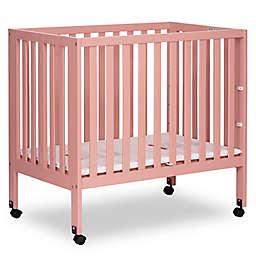 Dream On Me Jett Mini Portable Folding Crib in Pink