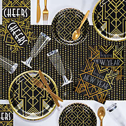 Creative Converting® Art Deco New Year 243-Piece Deluxe Party Supplies Kit