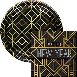 Creative Converting® 72-Piece Art Deco New Year Snack  Kit<br />