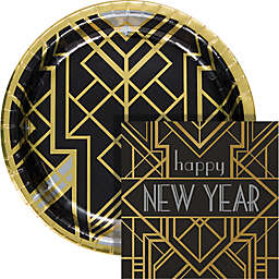 Creative Converting® Art Deco New Year 72-Piece Buffet Kit
