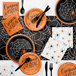 Creative Converting 73-Count Creepin It Real Halloween Party Supplies Kit