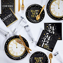 Creative Converting™ 240-Piece Golden New Year Deluxe Party Supplies Kit in Gold