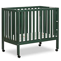 Dream On Me Jett Mini Portable Folding Crib in Olive