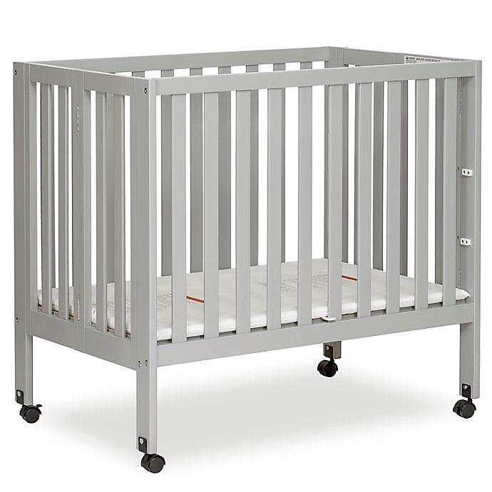 Alternate image 1 for Dream On Me Jett Mini Portable Folding Crib in Pebble Grey