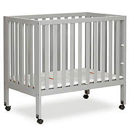 Dream On Me Jett Mini Portable Folding Crib in Pebble Grey