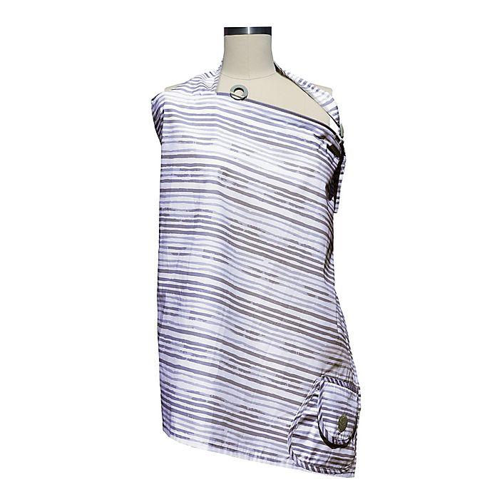Alternate image 1 for Boppy® Nursing Pillow Cover in Grey Watercolor Stripes
