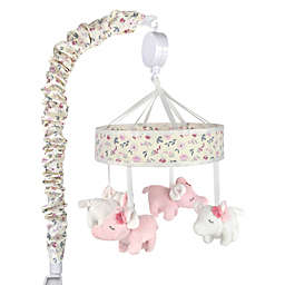 Wendy Bellissimo™ Plush Musical Wildflower Elephant Mobile in Pink
