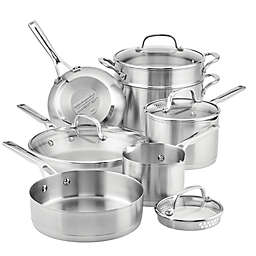 KitchenAid® Nonstick 3-Ply Stainless Steel 11-Piece Cookware Set