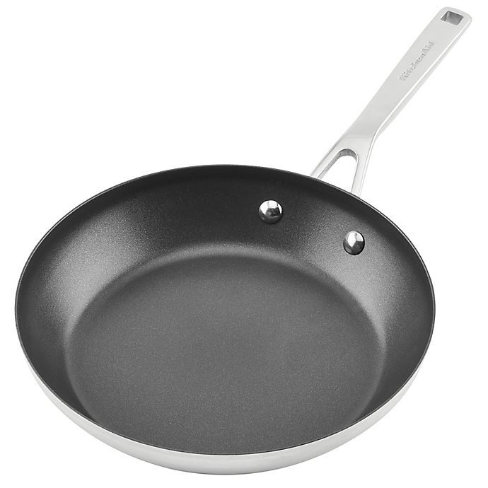 Alternate image 1 for KitchenAid® Nonstick 3-Ply Stainless Steel Fry Pan