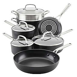 Kitchenaid® Nonstick Hard-Anodized 11-Piece Cookware Set in Black