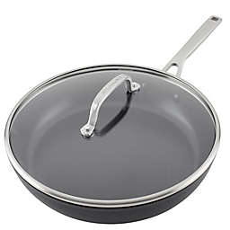 Kitchenaid® Nonstick Hard-Anodized Covered Fry Pan in Black