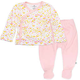 The Honest Company® Preemie 2-Piece Organic Cotton Kimono Top and Pant Set in Pink