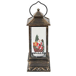 Luxen Home 12.2-Inch Santa Sleigh LED Lantern Decoration