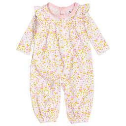 The Honest Company® Organic Cotton Long Flutter Sleeve Coverall in Pink