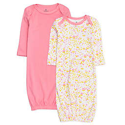 The Honest Company® 2-Pack Organic Cotton Sleeper Gowns in Pink/White