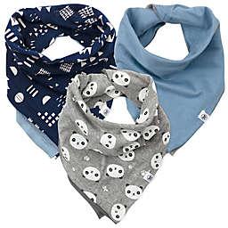 The Honest Company® 5-Pack Organic Cotton Bandana Bib Burp Cloths in Blue/Grey