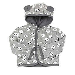 Honest® Size 12M Panda Reversible Hooded Jacket in Grey