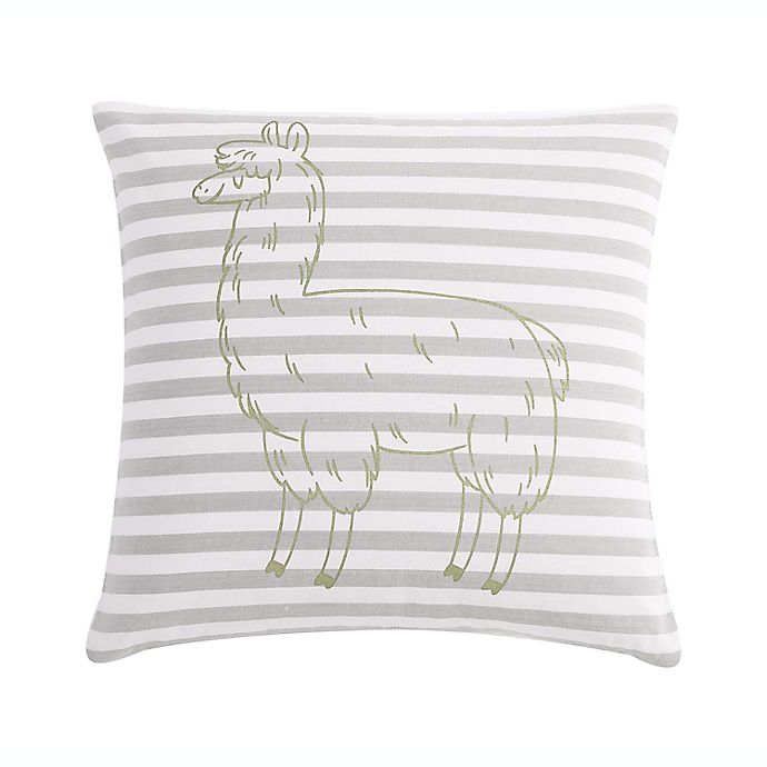 Alternate image 1 for VCNY Home Llama Stripe Square Throw Pillow