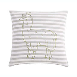 VCNY Home Llama Stripe Square Throw Pillow in Silver