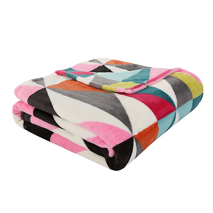 Alternate image 1 for VCNY Home Helen Geometric Throw Blanket